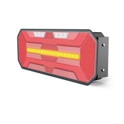 FEU ARRIERE DROIT 7 FONCTIONS AVEC CLIGNOTANT DYNAMIQUE 12/24 V LED ( 350 X 131 X 60 mm )