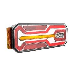 FEU ARRIERE GAUCHE 7 FONCTIONS AVEC CLIGNOTANT DYNAMIQUE 12/24 V LED ( 350 X 131 X 60 mm )