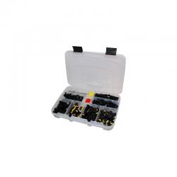 Coffret de 60 connecteurs étanches avec contacts et joints étanches (460 pièces)