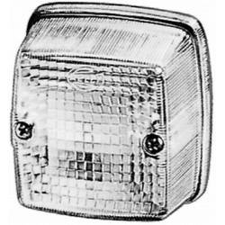 FEU DE RECUL A PLAQUER HELLA BLANC 12/24V ( 84 X 84 X 51 mm )
