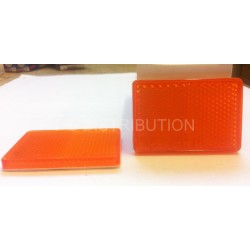 CATADIOPTRE ORANGE RECTANGLE ADHESIF 56 X 33MM