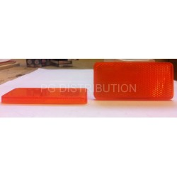 CATADIOPTRE ORANGE RECTANGLE ADHESIF 90 X 40MM