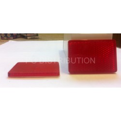 CATADIOPTRE ROUGE RECTANGLE ADHESIF 56 X 33MM