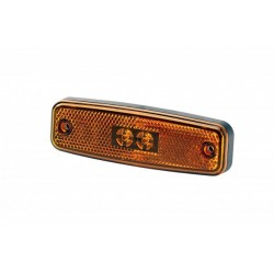FEU DE GABARIT A PLAQUER LATERAL ORANGE LED 12/24V