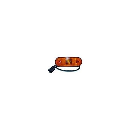 FEU A PLAQUER ASPOCK UNIPOINT 24V LED ORANGE AVEC CABLE LG 0,5M 31-2004-014