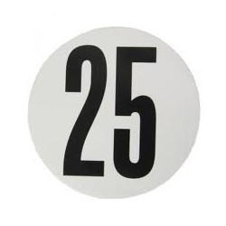 DISQUE DE LIMITATION DE VITESSE POUR POIDS LOURDS ADHESIF 25KM ( Diamètre 200 mm )