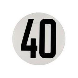 DISQUE DE LIMITATION DE VITESSE POUR POIDS LOURDS ADHESIF 40KM ( Diamètre 200 mm )