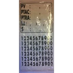 PLAQUE DE TARE pour Poids Lourds ( Dimensions : 150 X 130 mm )