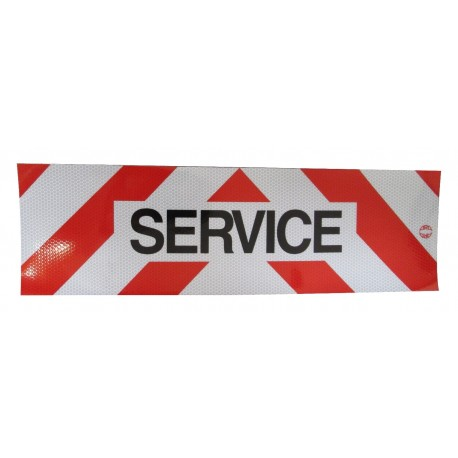 PANNEAU SERVICE ADHESIF 500 X 150 MM ( classe 2 )