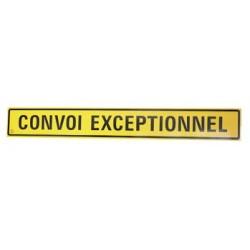 PANNEAU ALU CONVOI EXCEPTIONNEL CLASSE 2 (TEXTE 1 LIGNE) 1900 X 250 X 2 MM