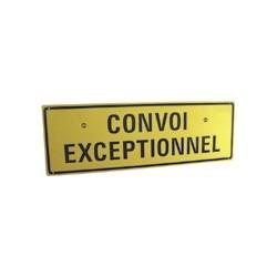 PANNEAU ALU CONVOI EXCEPTIONNEL (TEXTE 2 LIGNE AVEC 2 PLOTS MAGNETIQUE)