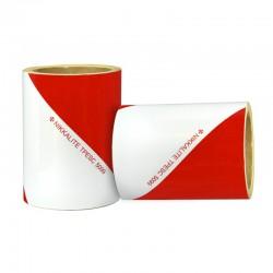 KIT DE 2 ROULEAUX DE BANDE ALTERNEE ROUGE ET BLANCHE EN 46 METRES x 14 cm ( TPESC 5099 )