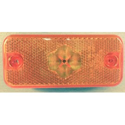 FEU LATERAL ORANGE 4 LEDS A PLAQUER