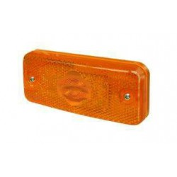 FEU A PLAQUER A AMPOULE ORANGE (CULOT INCLINE) IVECO