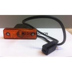 FEU A PLAQUER ORANGE LED ASPOCK FLATPOINT AVEC CABLE LG 0,5MM