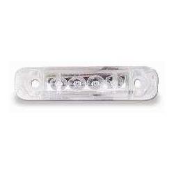 FEU A PLAQUE 4 LED BLANC JOKON(Eclairage Rouge) CABLE RACCORDEMENT 250 MM 24V