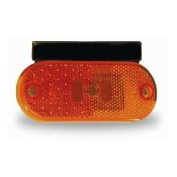 FEU A LED DE POSITION LATERAL ORANGE JOKON A LED + CATA 24V FEU AVEC SUPPORT COUDE LONG + CABLE 500MM