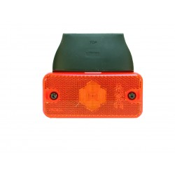 FEU DE GABARIT LATERAL ORANGE 2 LEDS SEMELLE A 90 degrés