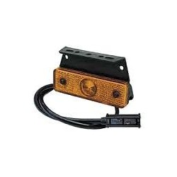 FEU SUSPENDU ORANGE LED 24V ASPOCK FLATPOINTSUR SEMELLE A 90 degrés (AVEC CABLE LG 0,5M)