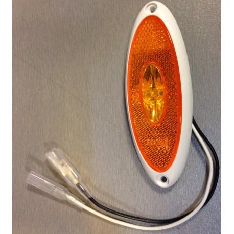 feu de gabarit led jokon oval orange 12v pour camping car. Black Bedroom Furniture Sets. Home Design Ideas