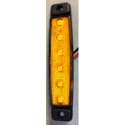 FEU DE POSITION 6 LED ORANGE 24V ULTRA PLAT
