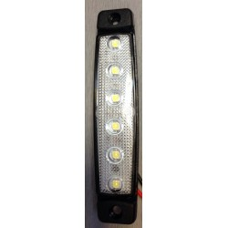 FEU DE POSITION 6 LED BLANC 24V ULTRA PLAT