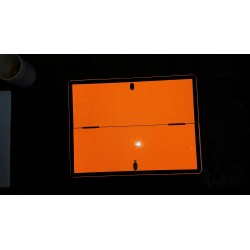 PLAQUE DE DANGER ALU ORANGE PLIABLE HORIZONTALEMENT 400 X 300MM