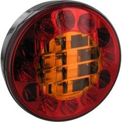 FEU ROND LED 3 FONCTIONS DIAMETRE 122 MM 3 POSITIONS