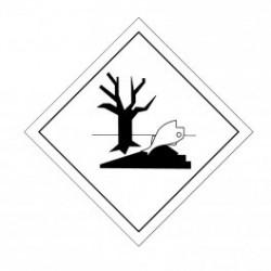 ETIQUETTE DE DANGER ADHESIVE POISSON ARBRE 300 X 300 MM