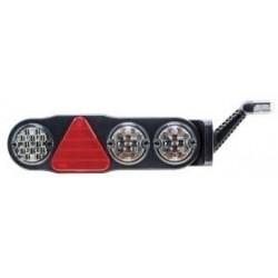 FEU ARRIERE DROIT 7 FONCTIONS LED 10 A 30V AVEC FEU DE GABARIT LED