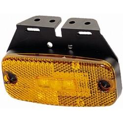 FEU DE GABARIT ORANGE 3 LED 24V SUR SEMELLE A 90°