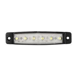 FEU DE POSITION 6 LED BLANC 12 V ULTRA PLAT