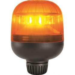 GYROPHARE ORANGE A TIGE A LED 12 / 24 V HOMOLOGUE R65