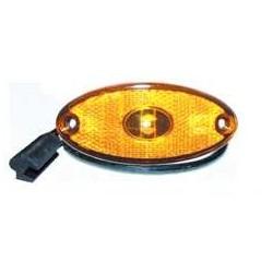 FEU SUSPENDU LED 24V ORANGE ASPOCK FLATPOINT 2 A PLAQUER CABLE 0.50 METRES