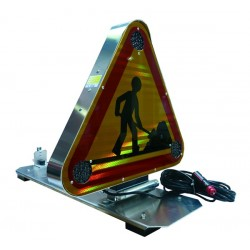 TRIANGLE TRIFLASH AK5 CLASSE 2 A LED DOUBLE FACE SUR PLAQUE MAGNETIQUE + FICHE ALLUME CIGARE