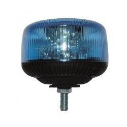 GYROPHARE BLEU SATELIGHT LED A BOULON CENTRAL 12 A 24 V HOMOLOGUE R65