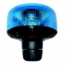 GYROPHARE BLEU SATELIGHT TOURNANT A HAMPE A LED 12 A 24 V HOMOLOGUE R65