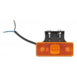 FEU DE GABARIT ORANGE 4 LED SUR SEMELLE A 90 ° 24V