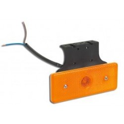 FEU DE GABARIT ORANGE 1 LED SUR SEMELLE A 90 ° 24V