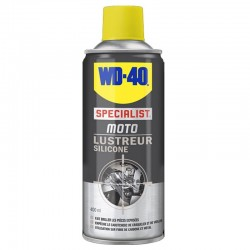 NETTOYANT WD 40 SPECIAL MOTO LUSTREUR SILICONE ( 400 ml )