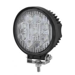 PHARE DE TRAVAIL ROND 9 LED 10 / 30 V 2200 Lm