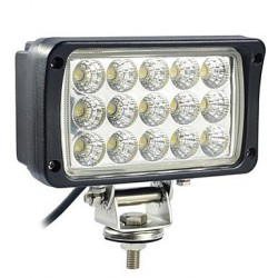 FEU DE TRAVAIL 15 LED 45W RECTANGLE 3375 LM / 9V A 32 V - IP 67