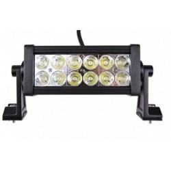 BARRE 12 LED 36 W-2640 Lm- LONGUEUR : 279 MM ( 12 X 3 W )