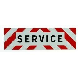 PANNEAU SERVICE ADHESIF 500 X 150 MM ( classe 1 )
