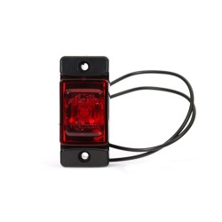 feu de gabarit rouge 2 led 12/24V ( 72 x 32 x 23 mm)