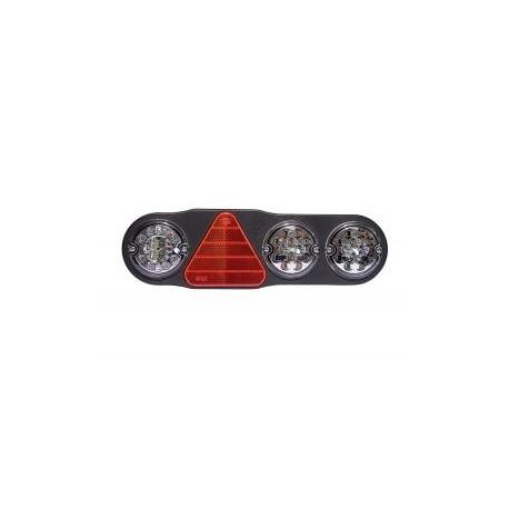 FEU ARRIERE GAUCHE 7 FONCTIONS LED 10 A 30V LED AVEC TRIANGLE