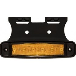 FEU DE POSITION SUR SEMELLE SUSPENDUE 6 LED ORANGE 12V ULTRA PLAT
